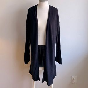 Michael Studio Collection Long Black Cardigan